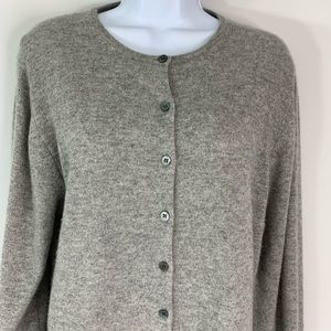Lord & Taylor XL Gray Cashmere Cardigan